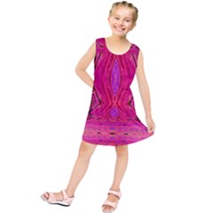 Pink And Purple And Peacock Created By Flipstylez Designs  Kids  Tunic Dress