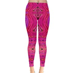 Pink And Purple And Peacock Design By Flipstylez Designs  Leggings