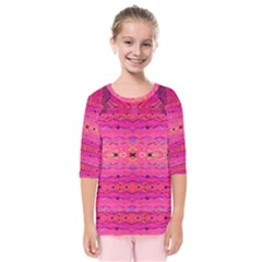 Pink And Purple And Beautiful Peacock Design Created By Flipstylez Designs Kids  Quarter Sleeve Raglan Tee