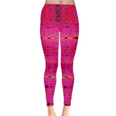Pink And Purple And Peacock Created By Flipstylez Designs Leggings