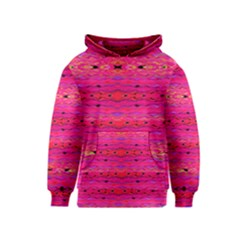 Pink And Purple And Peacock Created By Flipstylez Designs Kids  Pullover Hoodie