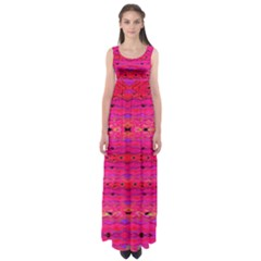 Pink And Purple And Peacock Created By Flipstylez Designs Empire Waist Maxi Dress