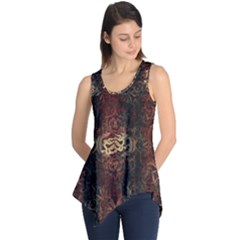 A Golden Dragon Burgundy Design Created By Flipstylez Designs Sleeveless Tunic