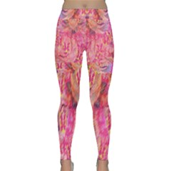 Pink And Purple Beautiful Golden And Purple Butterflies Created By Flipstylez Designs Classic Yoga Leggings