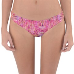 Pink Purple Beautiful Golden Butterfly Created By Flipstylez Designs Reversible Hipster Bikini Bottoms