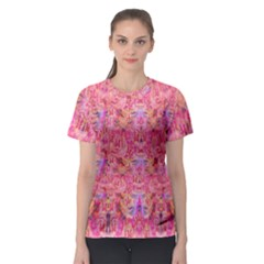 Pink Purple Beautiful Golden Butterfly Created By Flipstylez Designs Women s Sport Mesh Tee