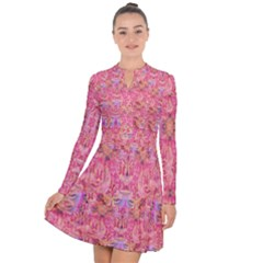 Pink Purple Beautiful Golden Butterfly Created By Flipstylez Designs Long Sleeve Panel Dress