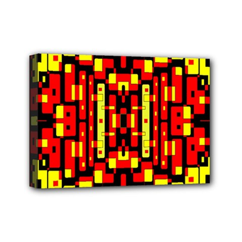 Red Black Yellow 4 Mini Canvas 7  X 5