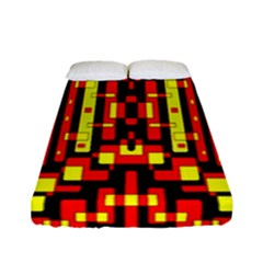 Red Black Yellow 4 Fitted Sheet (full/ Double Size)