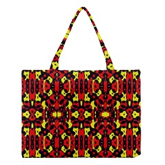 Red Black Yellow 5 Medium Tote Bag