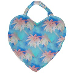 Palm Trees Summer Afternoon Giant Heart Shaped Tote