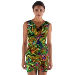 G 1 Wrap Front Bodycon Dress