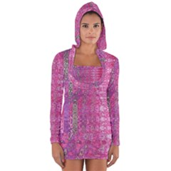 Purple Splash And Pink Shimmer Created By Flipstylez Designs Long Sleeve Hooded T Shirt