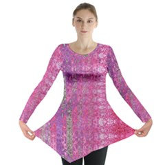 Purple Splash And Pink Shimmer Created By Flipstylez Designs Long Sleeve Tunic