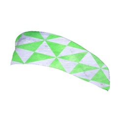 Triangle1 White Marble & Green Watercolor Stretchable Headband