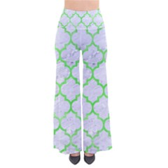 Tile1 (r) White Marble & Green Watercolor So Vintage Palazzo Pants
