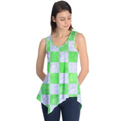 Square1 White Marble & Green Watercolor Sleeveless Tunic