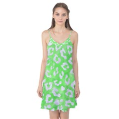 Skin5 White Marble & Green Watercolor (r) Camis Nightgown