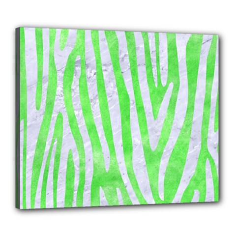 Skin4 White Marble & Green Watercolor (r) Canvas 24  X 20
