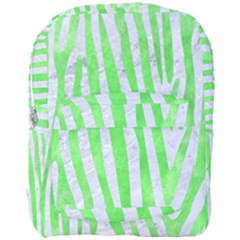 Skin4 White Marble & Green Watercolor Full Print Backpack