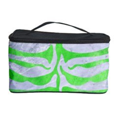Skin2 White Marble & Green Watercolor (r) Cosmetic Storage Case