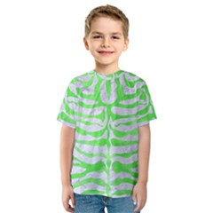 Skin2 White Marble & Green Watercolor (r) Kids  Sport Mesh Tee