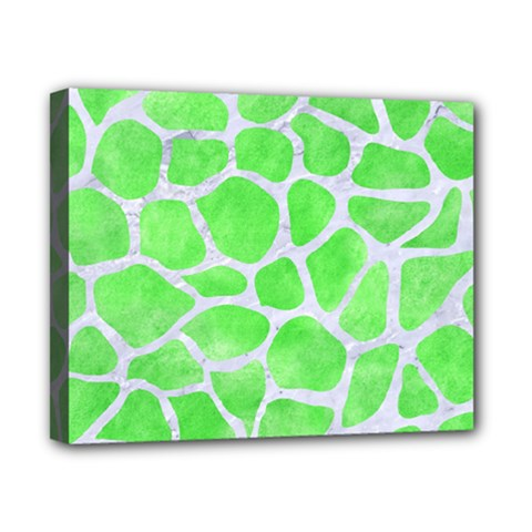 Skin1 White Marble & Green Watercolor (r) Canvas 10  X 8