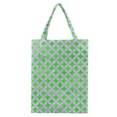Circles3 White Marble & Green Watercolor Classic Tote Bag