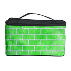 Brick1 White Marble & Green Watercolor Cosmetic Storage Case