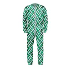 Woven2 White Marble & Green Marble Onepiece Jumpsuit (kids)