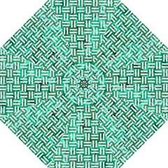 Woven1 White Marble & Green Marble Folding Umbrellas