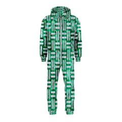 Woven1 White Marble & Green Marble Hooded Jumpsuit (kids)