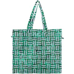 Woven1 White Marble & Green Marble Canvas Travel Bag by trendistuff