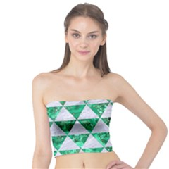Triangle3 White Marble & Green Marble Tube Top