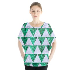Triangle2 White Marble & Green Marble Blouse