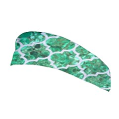 Tile1 White Marble & Green Marble Stretchable Headband