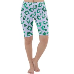 Skin5 White Marble & Green Marble Cropped Leggings