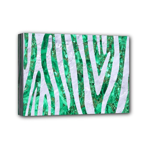 Skin4 White Marble & Green Marble (r) Mini Canvas 7  X 5