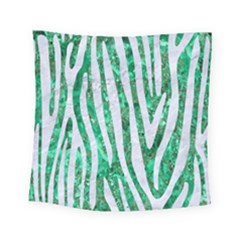Skin4 White Marble & Green Marble (r) Square Tapestry (small)