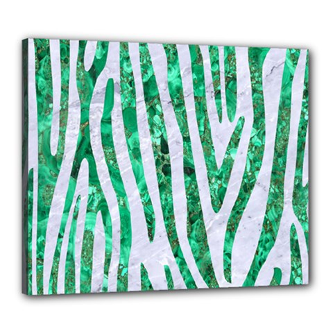 Skin4 White Marble & Green Marble Canvas 24  X 20