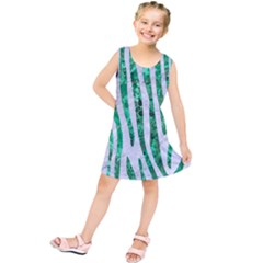 Skin4 White Marble & Green Marble Kids  Tunic Dress