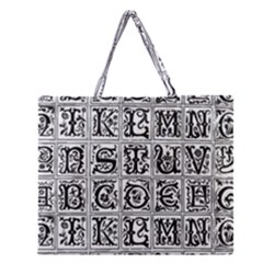 Abc 1 Zipper Large Tote Bag