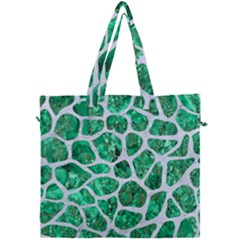 Skin1 White Marble & Green Marble (r) Canvas Travel Bag by trendistuff