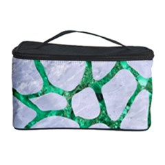Skin1 White Marble & Green Marble Cosmetic Storage Case