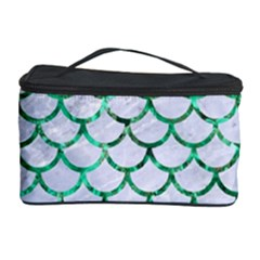Scales1 White Marble & Green Marble (r) Cosmetic Storage Case