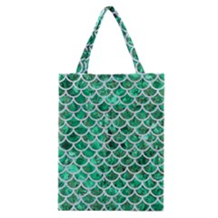 Scales1 White Marble & Green Marble Classic Tote Bag