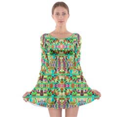 H 8 Long Sleeve Skater Dress