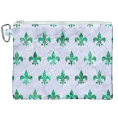 Royal1 White Marble & Green Marble Canvas Cosmetic Bag (xxl) by trendistuff