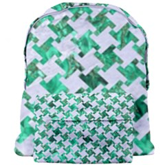 Houndstooth2 White Marble & Green Marble Giant Full Print Backpack