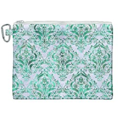 Damask1 White Marble & Green Marble (r) Canvas Cosmetic Bag (xxl)